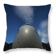 Low Angle View Of A C-17 Globemaster Throw Pillow