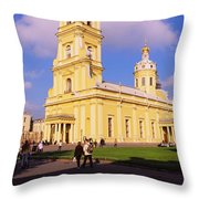 Low Angle View Of A Cathedral, Peter Throw Pillow