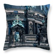 Low Angle View Of A Church, Berliner Throw Pillow