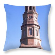 Low Angle View Of A Church, St. Philips Throw Pillow