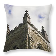 Low Angle View Of A Church, Trinity Throw Pillow