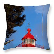 Low Angle View Of A Lighthouse, Morgat Throw Pillow