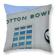 Low Angle View Of An American Football Throw Pillow