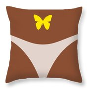 Low Back Tattoo - Butterfly Throw Pillow