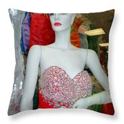 Low Cut Lucy Throw Pillow