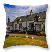 Low Newton By The Sea Throw Pillow