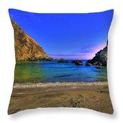 Low Tide At Big Sur Throw Pillow