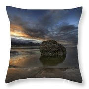 Low Tide At Cannon Beach Oregon Throw Pillow