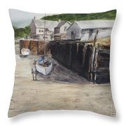 Low Tide At High Noon Throw Pillow