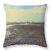 Low Tide At Siesta Beach Throw Pillow