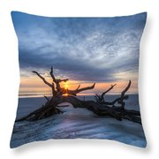 Low Tide At Sunrise Throw Pillow