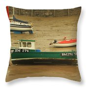 Low Tide Blues Throw Pillow