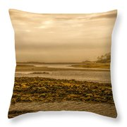 Low Tide Cape Porpoise Maine Throw Pillow