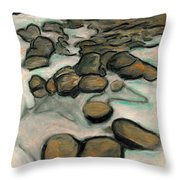 Low Tide Throw Pillow by Carla Sa Fernandes