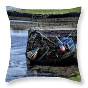 Low Tide Donegal Ireland Throw Pillow