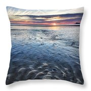 Low Tide East Beach Throw Pillow