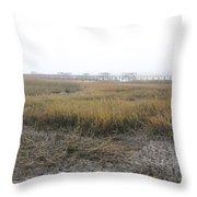 Low Tide Fog Throw Pillow