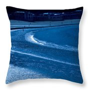 Low Tide In Blue Throw Pillow