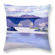 Low Tide  Iona Throw Pillow by Francis Campbell Boileau Cadell