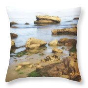 Low Tide Throw Pillow by Marty Koch