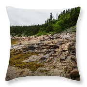 Low Tide - Walking On The Bottom Of Saint Lawrence River Throw Pillow