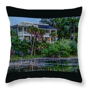 Lowcountry Home On The Wando River Throw Pillow