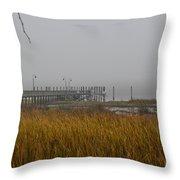 Lowcountry Marsh Fog Throw Pillow