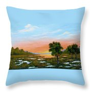 Lowcountry Sunrise Throw Pillow