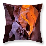 Lower Antelope Glow Throw Pillow