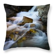Lower Apikumi Falls Glacier National Park Throw Pillow