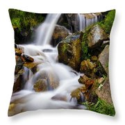 Lower Bridal Veil Falls 4 Throw Pillow