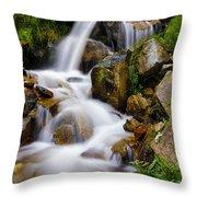 Lower Bridal Veil Falls 4 Throw Pillow