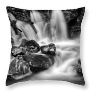 Lower Bridal Veil Falls 5 Bw Throw Pillow