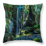 Lower Doyle River Falls Throw Pillow