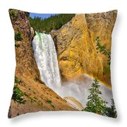 Lower Falls From Uncle Toms Trail Throw Pillow