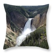 Lower Falls Yellowstone Throw Pillow
