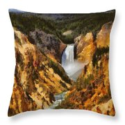 Lower Falls Yellowstone Painting By Dan Sproul