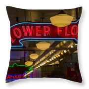 Lower Floor And Salmon Throw Pillow