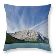 Lower Kananaskis Lake Throw Pillow