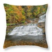Lower Kent Falls Square Throw Pillow
