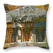 Lower-level Tomb In Myra-turkey Throw Pillow