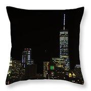 Lower Manhattan 2015 Throw Pillow