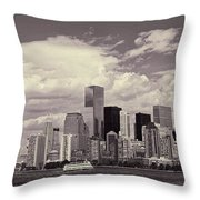 Lower Manhattan Skyline 2 Throw Pillow