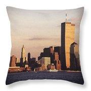 Lower Manhattan World Trade Center Throw Pillow by Carol Whaley Addassi