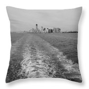 Lower New York In Black And White Throw Pillow