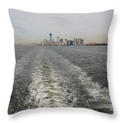 Lower New York Throw Pillow