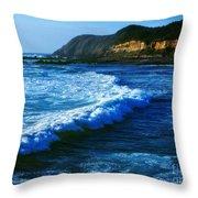 Lower Oregon Coast 2m Throw Pillow