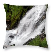 Lower Part Of Red Blanket Falls Throw Pillow