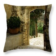 Lower Preveli Monastery Crete 3 Throw Pillow