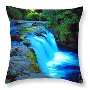 Lower Punchbowl Falls Throw Pillow